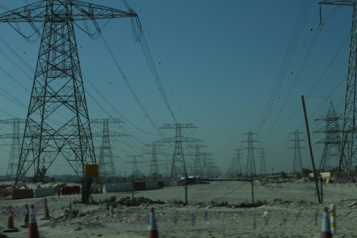 Power to the desert. Dubai, UAE