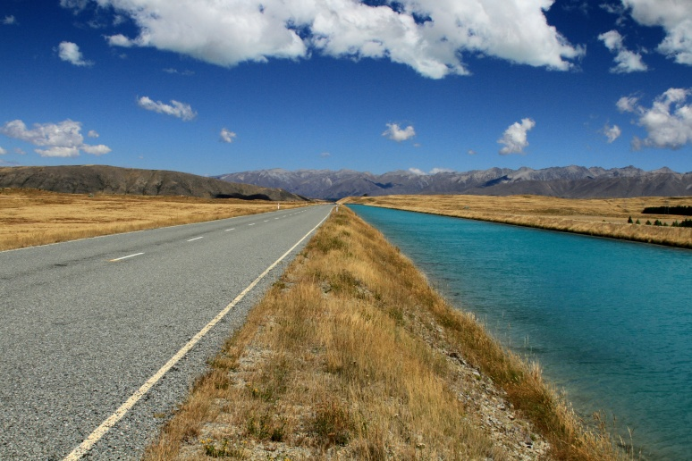 Parallel paths.South Island, New Zealand
