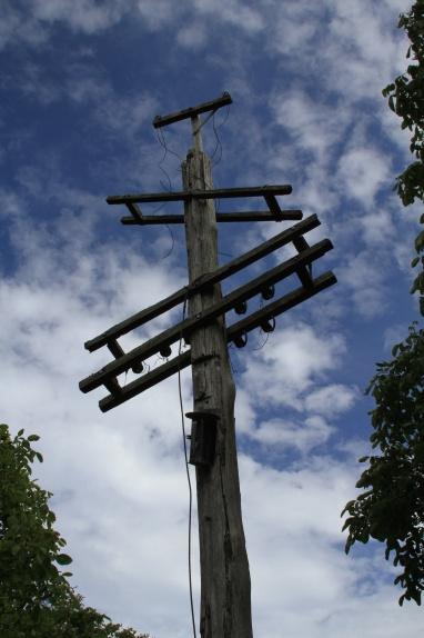 Broken lines of communication.South Island, New Zealand