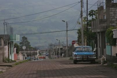 Back street parking.Quito, Ecuador
