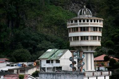 Aptly named Baños, Ecuador